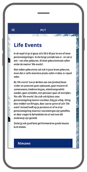 Function Life events - Akkermans PensioenCommunicatieTool