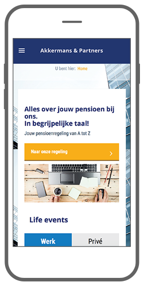 Function Home - Akkermans PensioenCommunicatieTool