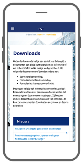 Function Downloads en handige info - Akkermans PensioenCommunicatieTool