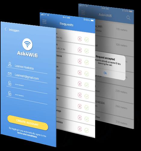 Ask4Wifi platform app beschrijving