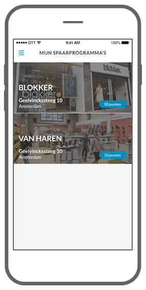 Function Spaar je rijk  - Fanly loyalty app