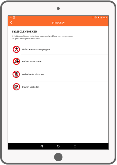 Function Symbolenzoeker - Check Your Safety app