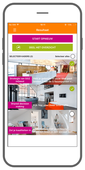 Function The result that counts! - GGZ inGeest healthcare framework app