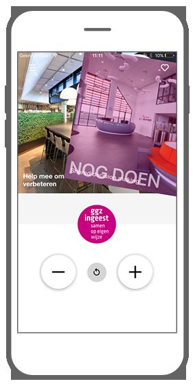 Function Swipe & save - GGZ inGeest healthcare framework app