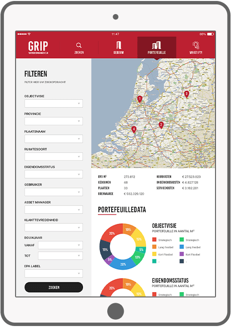 Function Portfolio data - GRIP vastgoed manager app