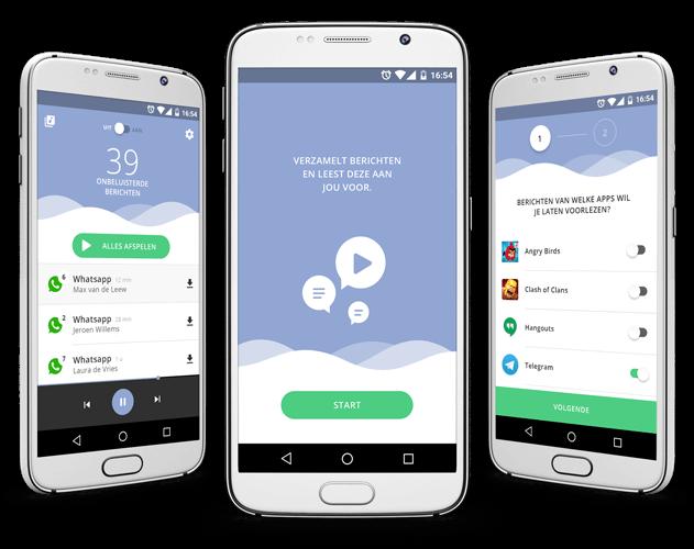 Read2Speak messages reading app overzicht