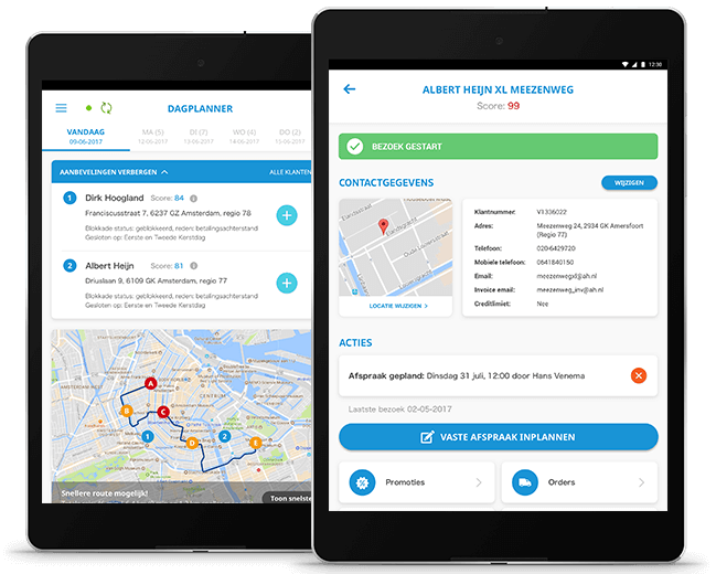 HG Sales app III overzicht