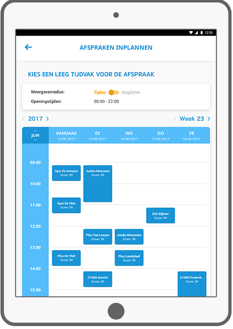 Function Plan an appointment - HG Sales app III