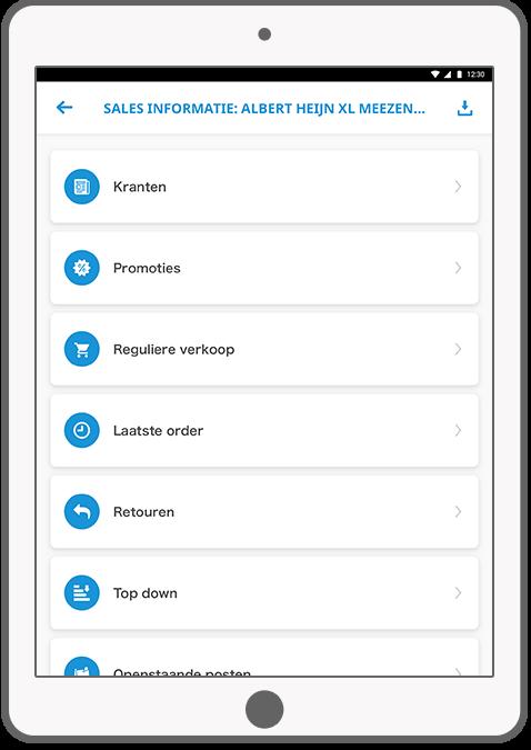 Function Sales information - HG Sales app III