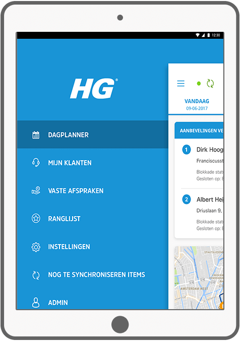 Function Menu - HG Sales app III