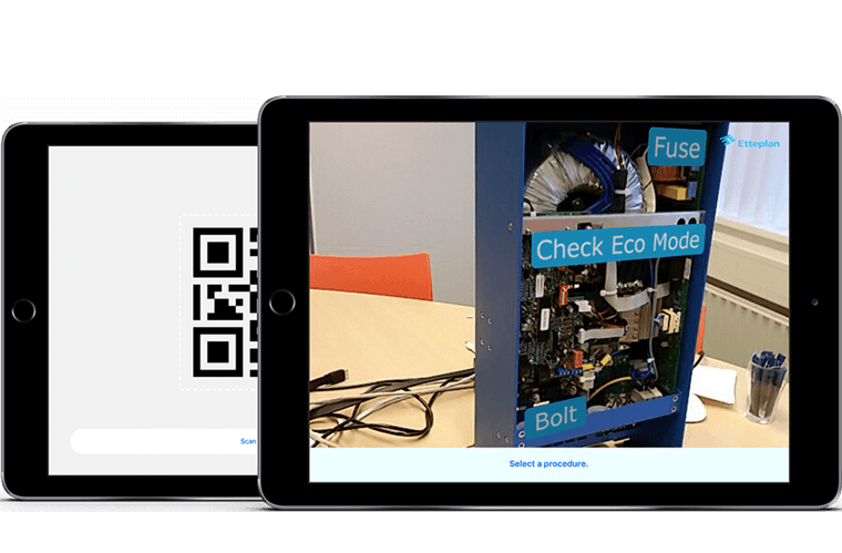 HyperSIS Augmented Reality app overzicht