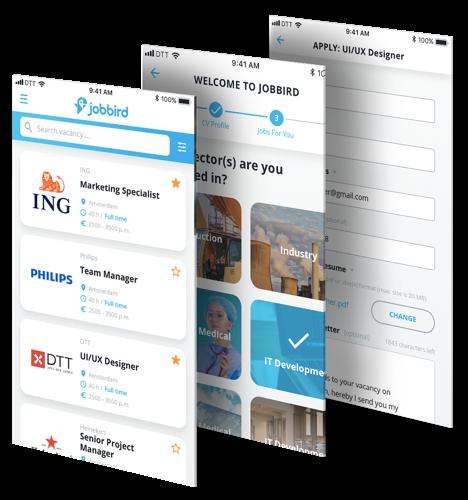 Jobbird app beschrijving