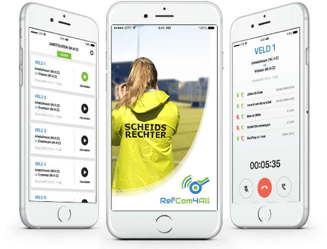 RefCom4all referee app overzicht