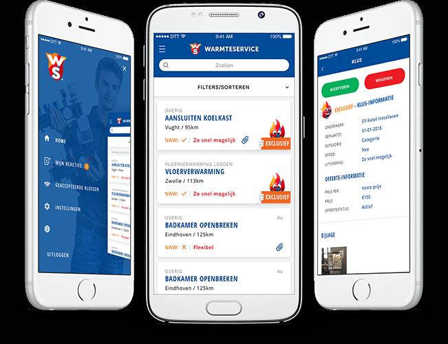 Kluscontact job platform app  overzicht