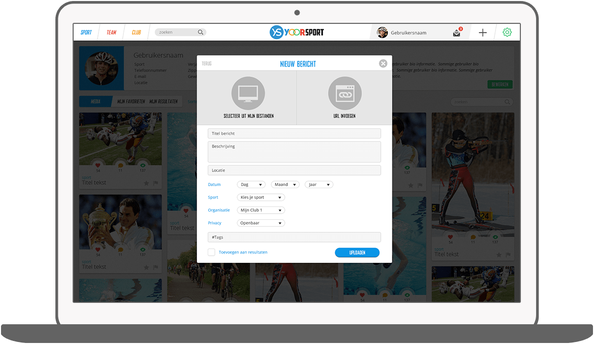 Function Uploaden - Yoorsport Website