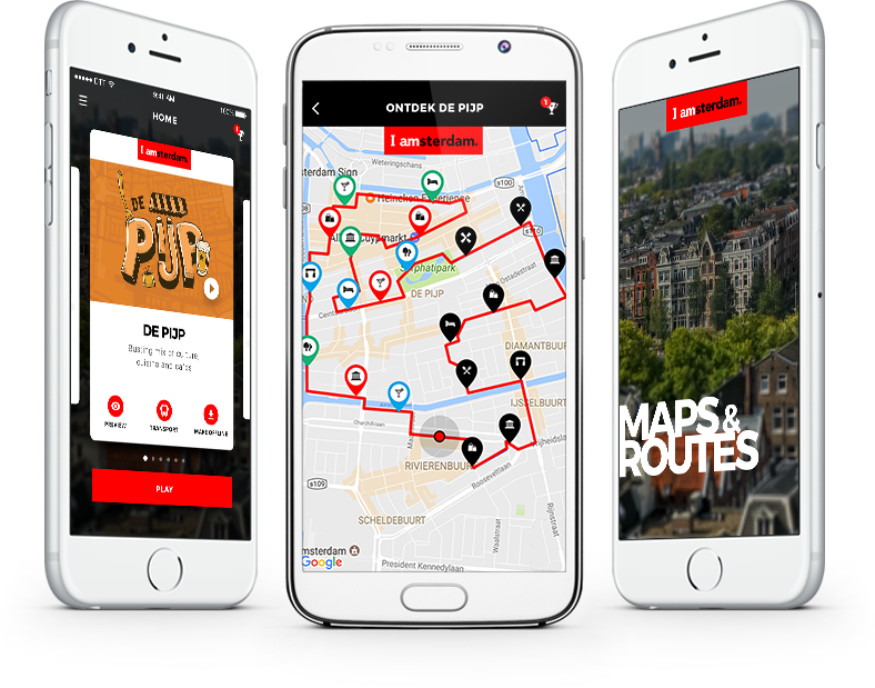 I amsterdam Maps & Routes overzicht