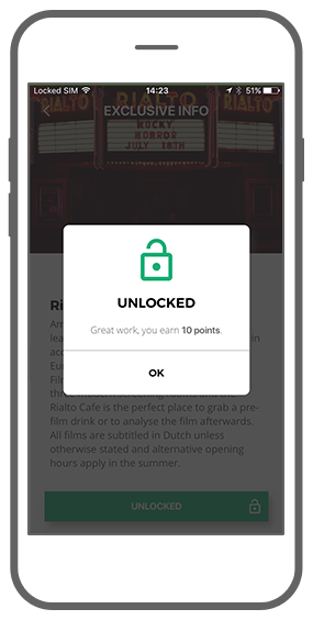 Function Exclusive info: unlock and receive points - I amsterdam Maps & Routes