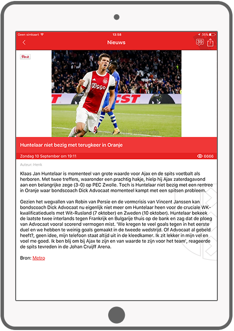 Function News articles - AjaxFanzone news app