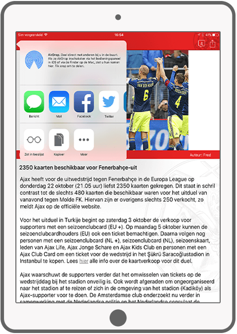 Function Share - AjaxFanzone news app