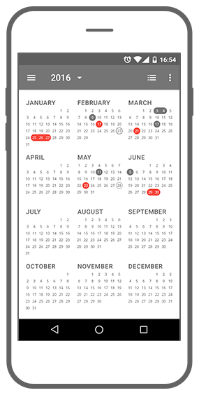 Function Jaarkalender - App!pointment app