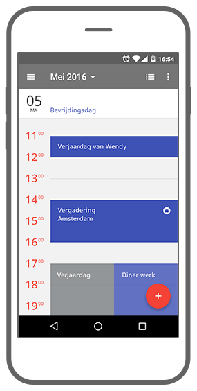 Function Dagoverzicht - App!pointment app