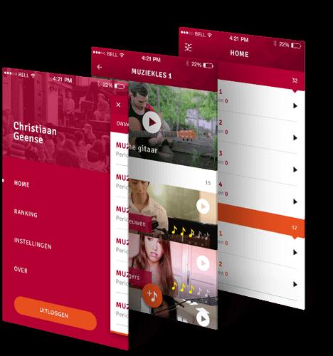 Aslan music school app beschrijving