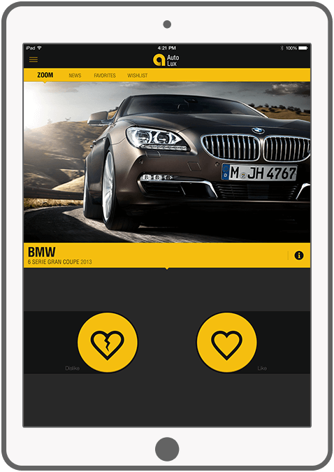 Function Like & dislike auto's - AutoLux car portal