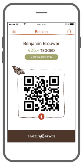 Function Betalen - Bagels & Beans loyalty app
