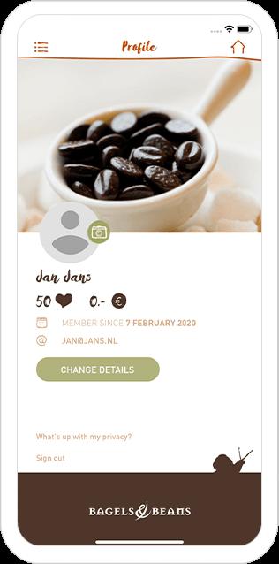 Function Profile - Bagels & Beans loyalty app