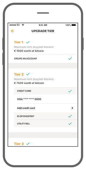 Function Upgrade tier - Bitmoney Bitcoin Payment Platform app