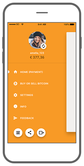 Function Menu - Bitmoney Bitcoin Payment Platform app
