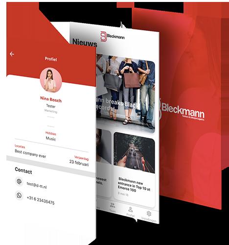 Bleckmann intranet app  beschrijving
