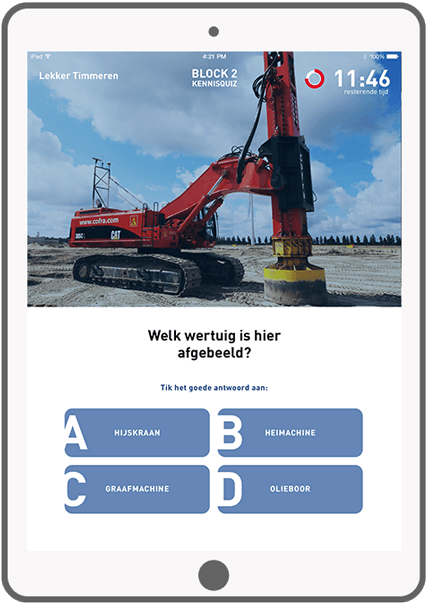 Function Block 2: Knowledge Quiz - Bouwend Nederland e-learning tool