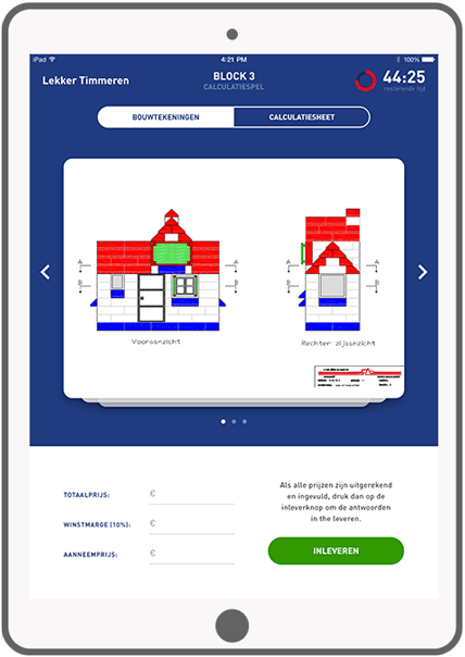 Function Block 3: Calculation Game - plan of building - Bouwend Nederland e-learning tool