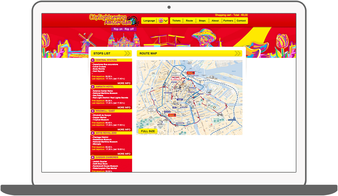 Function Route - Amsterdam City Sightseeing
