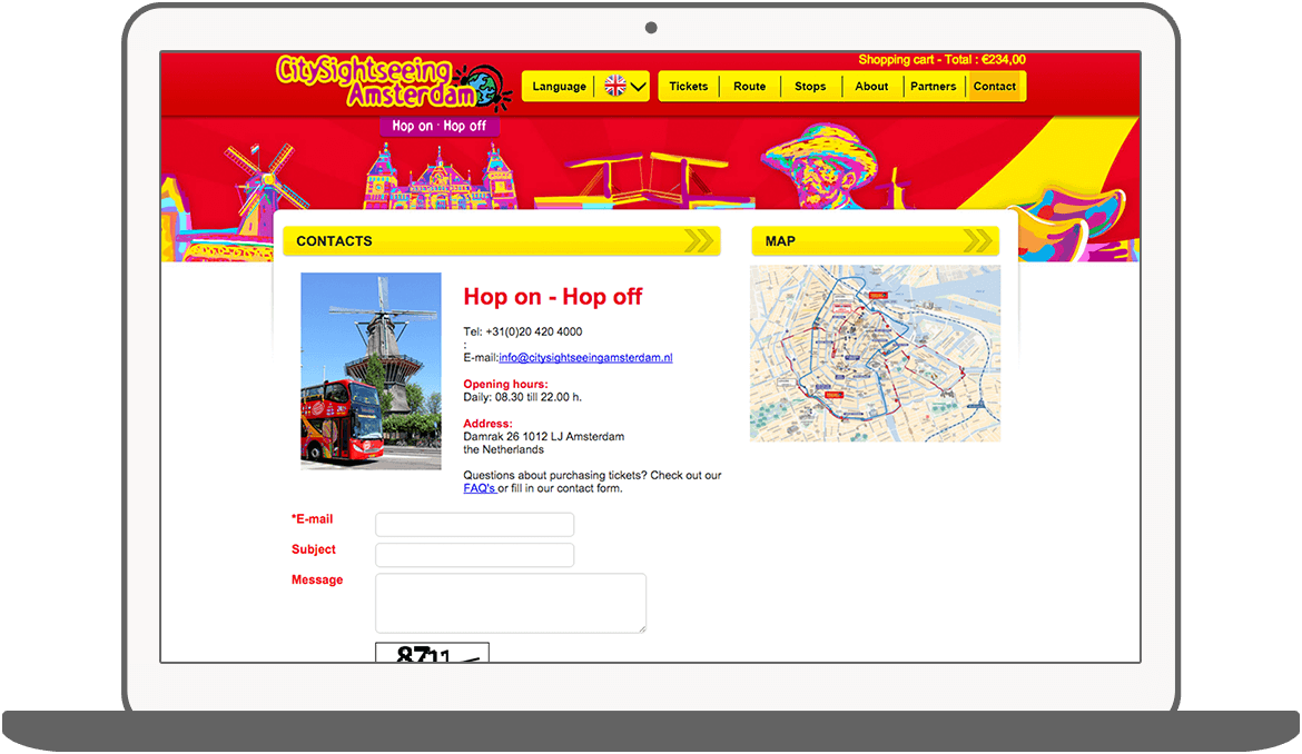 Function Contact - Amsterdam City Sightseeing
