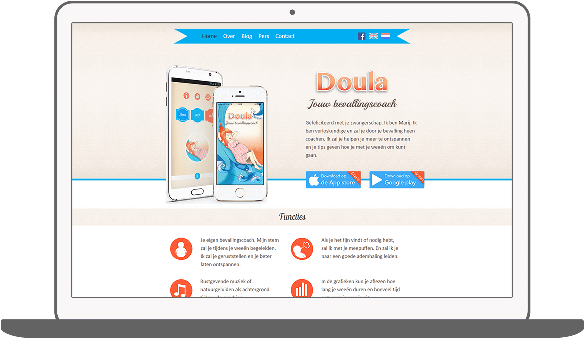 Function Responsive Website (home) - Doula Bevallingscoach
