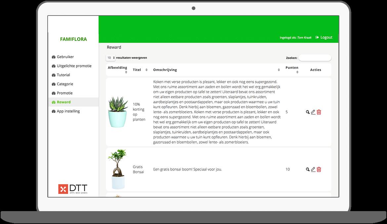 Function Rewards - Famiflora loyalty app