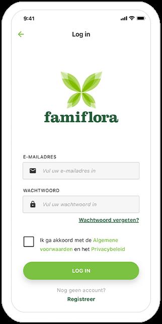 Function Login - Famiflora loyalty app
