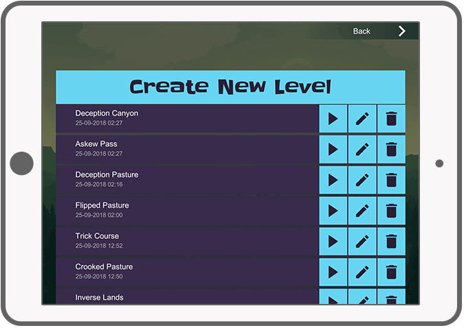 Function Level editor – Menu - Flip Puzzle