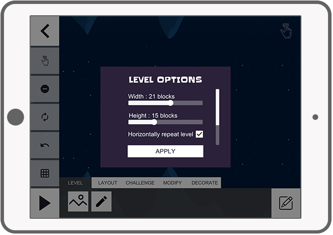 Function Level editor – Options - Flip Puzzle