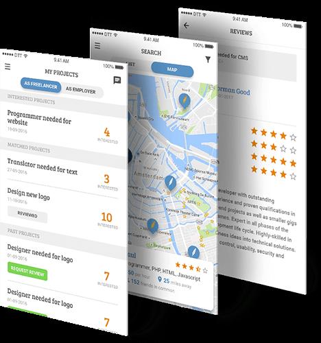 Freelancer platform app beschrijving