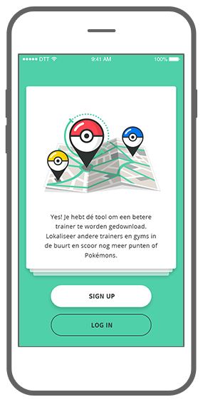 Function Sign- & log-in  - Geochat Pokémon radar