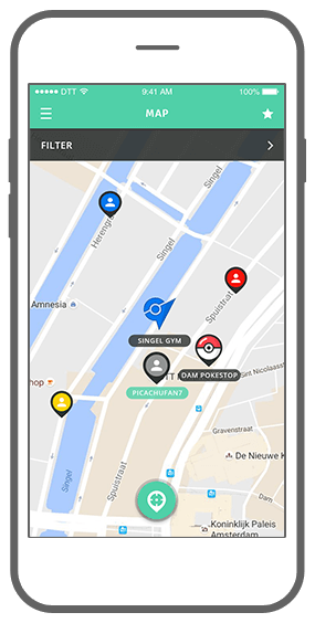 Function Gotta catch em all  - Geochat Pokémon radar
