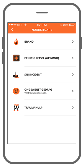Function Noodsituatie  - Check Your Safety app