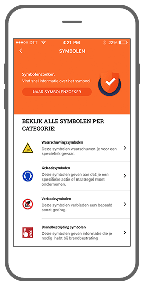 Function Symbolen  - Check Your Safety app