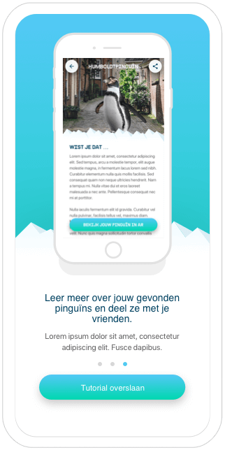 Function Look for penguins in your area! - King Penguin - Greenpeace AR