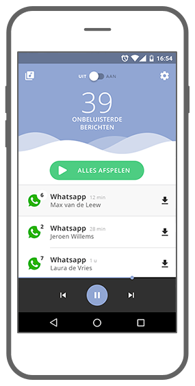 Function A waiting playlist of messages - Read2Speak messages reading app