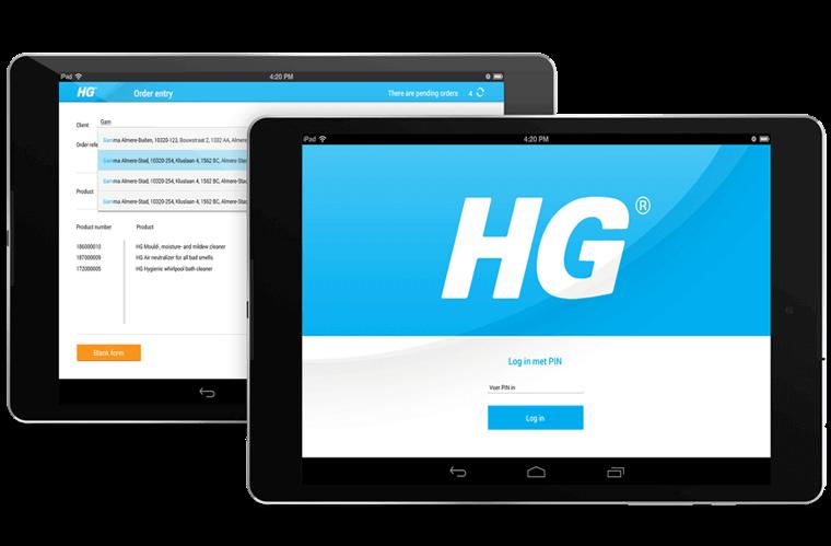 HG Order App overzicht