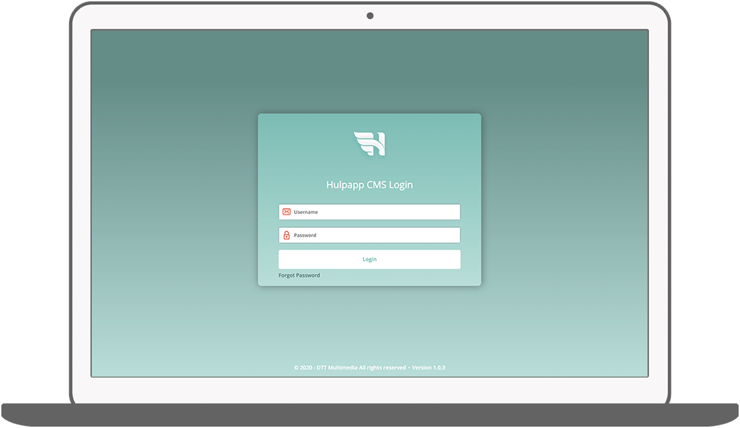 Function CMS login - Hulpapp